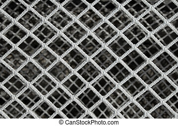 Hockey net pattern - New hockey goal net, forming a...