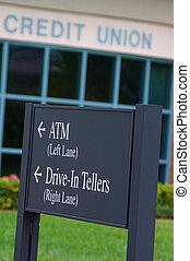 Bank Sign - bank sign for drive in teller and atm