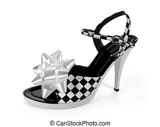 sexy, élevé, talon, chaussure, (, Coupure,...