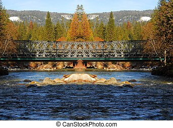 Mountain River Bridge 2 - Long Mountain River Bridge in...