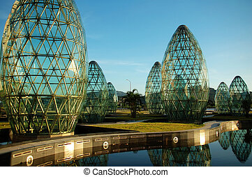 Modern abstract architecture - A close up of modern...
