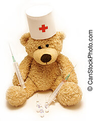 teddy-bear medic - the teddy-bear as a medical worker...