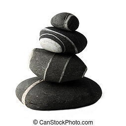 Stones isolated in a white background