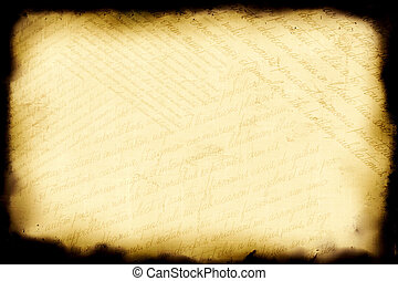 Aged paper background with writed old latin text