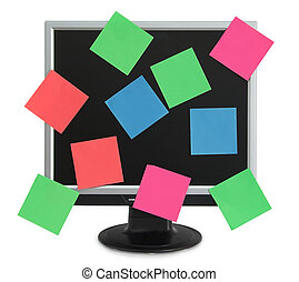 Postit in the monitor - LCD monitor with color postit
