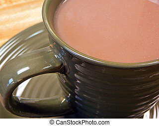 Hot Chocolate - Close-up of a cup of hot chocolate.
