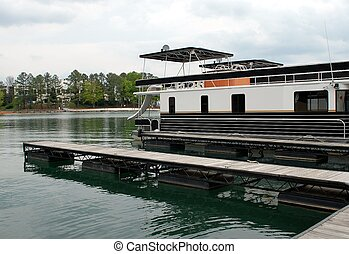 Houseboat - Photographed houseboat at local lake in Georgia.