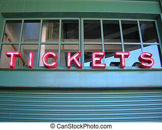 Tickets - Ticket Window Booth.