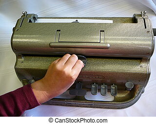 Using A Braille Writer - Using a braille writer