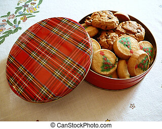 Tin of Christmas Cookies - Tin of Christmas cokies