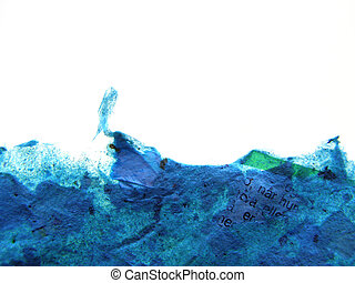 background of handmade paper - Background of handmade rough...