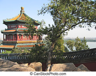 Imperial pagoda, Summer Palace, Beijing, China - Imperial...