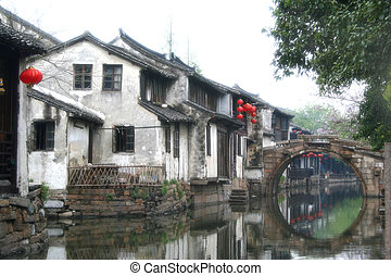 Zhou zhuang Zhous Town - soft diffuser on the camera len...