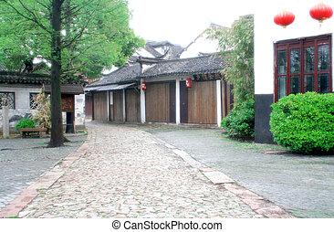 Ancient Stone Path in Zhou zhuang (Zhou's Town) - (soft...