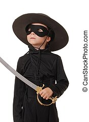 Zorro - Young boy dressed as Zorro