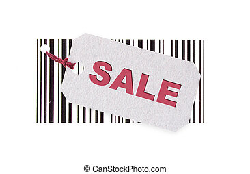 label for text on barcode background (Clipping Path included)