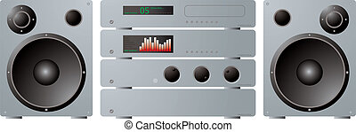 stereo seperates plus speakers - An illustration of a...