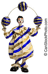 Circus Clown Juggling - Colorful Paper Mache Circus Clown...