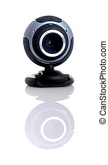 Webcam - Digital webcam in a white background with...