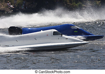 Formula one racing - Two formula 1 racecraft on the water