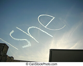 Write She in the sky written by a plane, New York - Write...