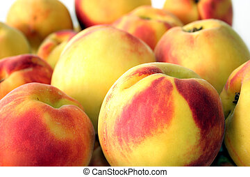 peaches fruits - Bunch of peaches fruits
