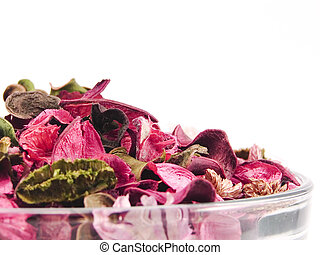 Closeup of potpourri bowl - Potpourri made out the dry...