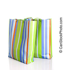 Shooping - Shop bags isolated in a white background