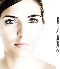 Beautiful woman portrait - Face of a young beautiful woman...