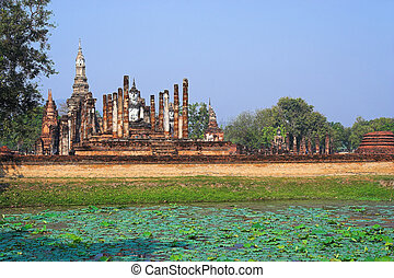 Sukhothai national unesco park in Thailand Asia