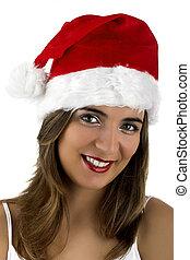 Christmas woman - Christmas season! Different portraits of a...