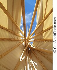 Tepee Sky - While in Airzona took a pic laying down in a...