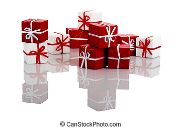 Gifts Boxes - Christmas season Small gift boxes with...