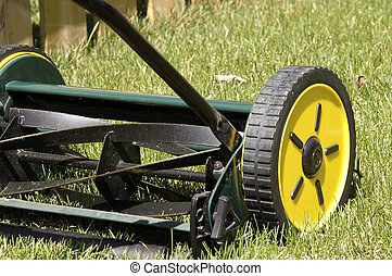 Lawn Mower - Reel type push mower that is environmentally...