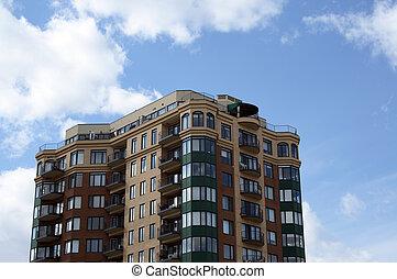 byggnad, lägenhet, nymodig