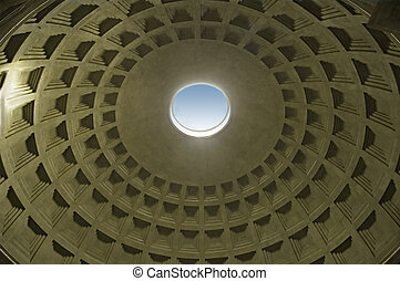 Pantheon interior roof