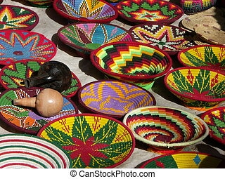 Cheery baskets - Woven Ethiopian baskets