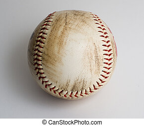 Used baseball - Dirty used baseball with red stitching...