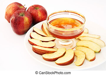 Red delicious and honey - Red delicious variety of apple...