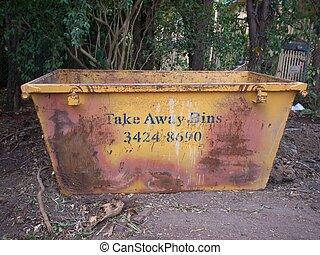 Mini Skip - picture of a mini skip for rubish removal on a...