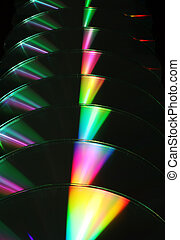 Spectral progression - Receding CDs refracting light to...