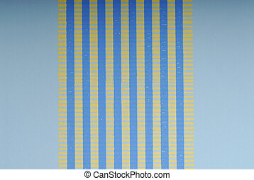 Wallpaper with light blue background and blue and yellow lines