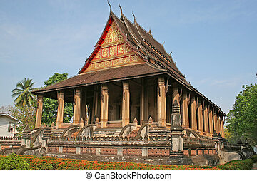 Buddhist temple - Wat Haw Pha Kaew, a buddhist temple in...
