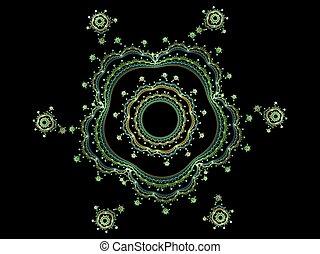 Complex floral fractal 3D