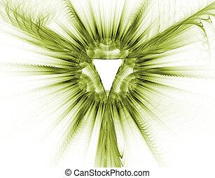 Christian symbol of God - 3D fractal