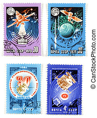 Space exploration Soviet collectibles - Collectible stamps...