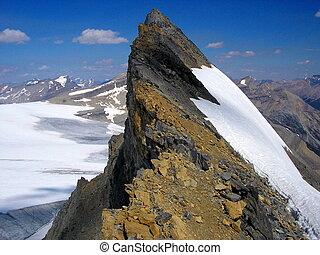 Mountain summit ridge - Mount St. Nicholas summit ridge I,...