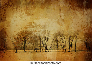 vintage winter - special f/x with dark vignetting,all art...