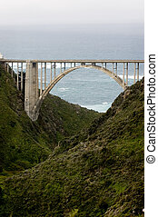 Bixby Bridge - Arch of the Bixby Bridge, Big Sur, California