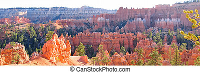 Forest of red and white peaks, Bryce National Park, United...